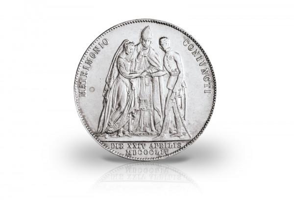 Österreich 1 Gulden 1854 ss-vz Franz Joseph I. zur Vermählung