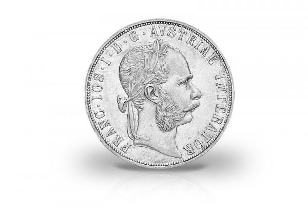 Doppelgulden 1872-1892 Österreich Franz Joseph I. ss-vz ohne Münzzeichen