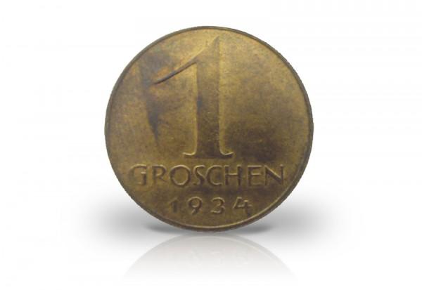 Österreich 1 Groschen 1925-38 Cu