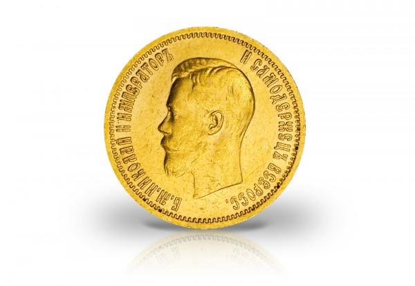 10 Rubel Goldmünze 1898-1911 Russland Zar Nikolaus II.