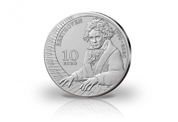10 Euro Silbermünze 2020 San Marino 250. Geburtstag Ludwig van Beethoven PP