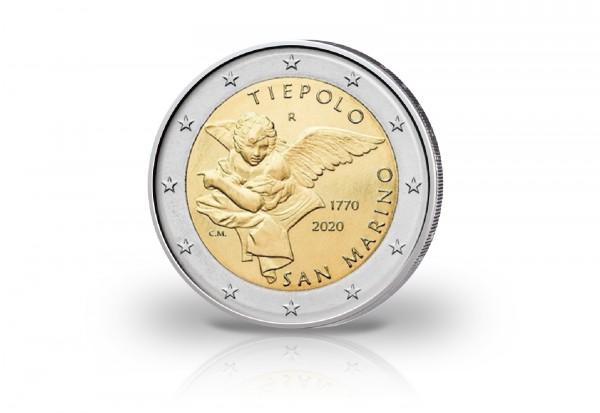 2 Euro 2020 San Marino 250. Todestag von Giambattista Tiepolo st im Blister