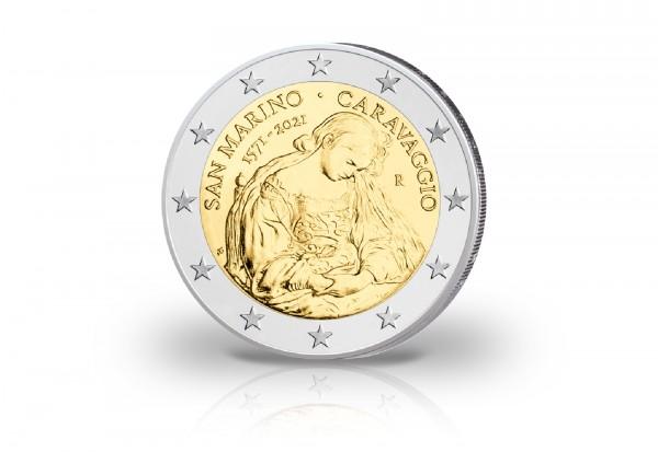2 Euro 2021 San Marino 450. Geburtstag von Caravaggio st im Blister