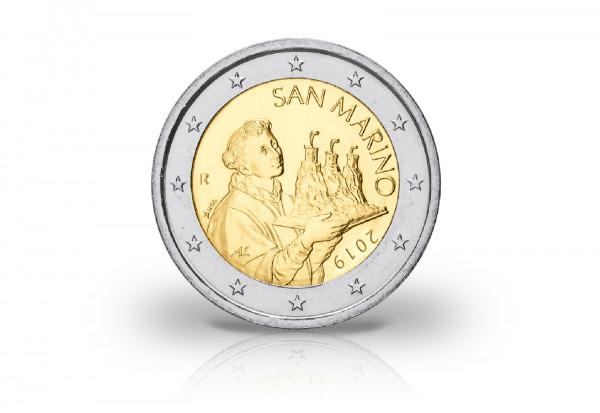 2 Euro 2019 San Marino Der Heilige Marinus