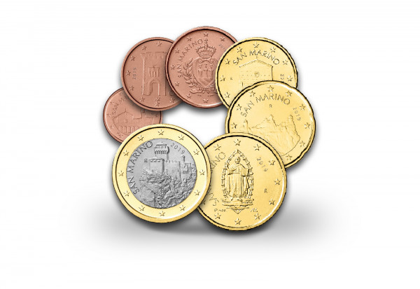 Eurosatz 2019 San Marino Kurzsatz PP