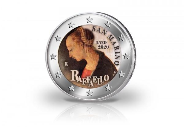 2 Euro 2020 San Marino 500. Todestag von Raffael mit Farbmotiv