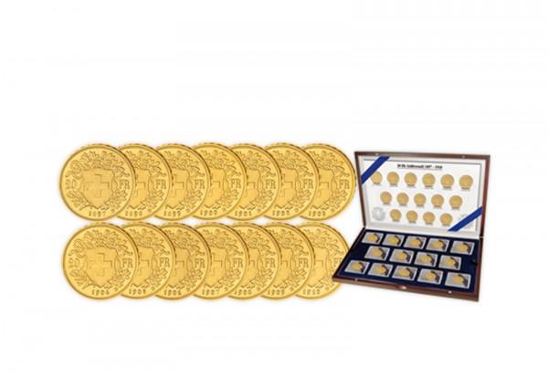 20 Franken Goldvreneli 1897- 1910 Schweiz als 14er Set
