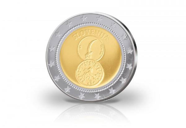 Probeprägung Euro Einführung Slowenien