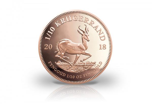 Krügerrand 1/10 oz Gold 2018 Südafrika PP im Etui mit Echtheitszertifikat