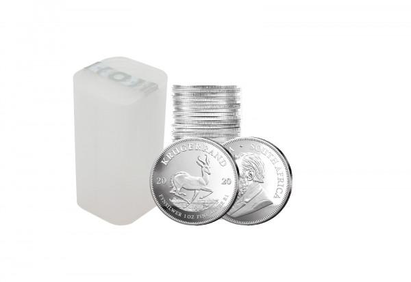 Krügerrand 1 oz Silber 2020 Südafrika im 25er Tube Spar-Set