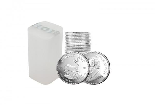 Krügerrand 1 oz Silber 2021 Südafrika im 25er Tube Spar-Set