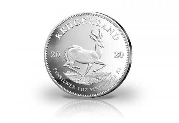 Krügerrand 1 oz Silber 2020 Südafrika PP im Etui