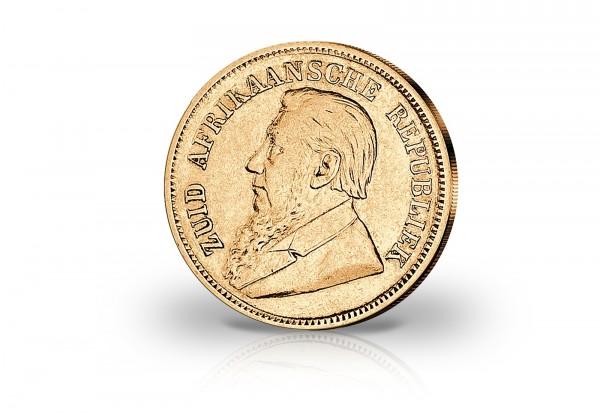 1/2 Pfund Goldmünze 1892-1898 Südafrika Ohm Krüger