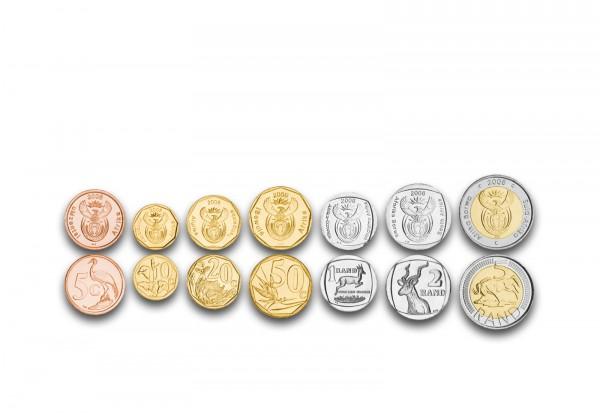 Weltmünzensatz Südafrika bankfrisch im Blister 5 Cent bis 5 Rand