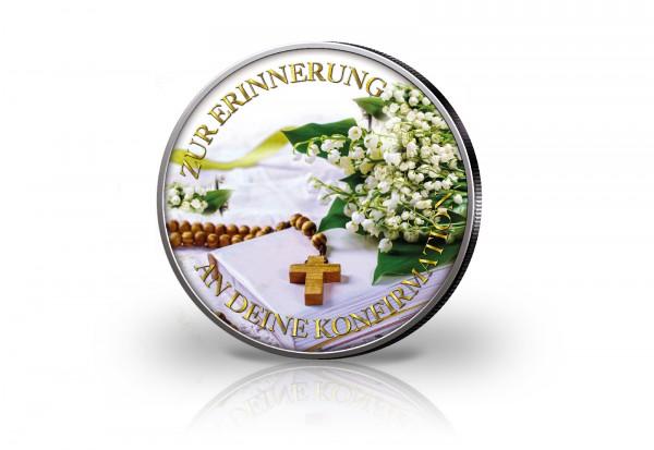 Krügerrand 1 oz Silber Südafrika mit Farbmotiv Zur Erinnerung an deine Konfirmation