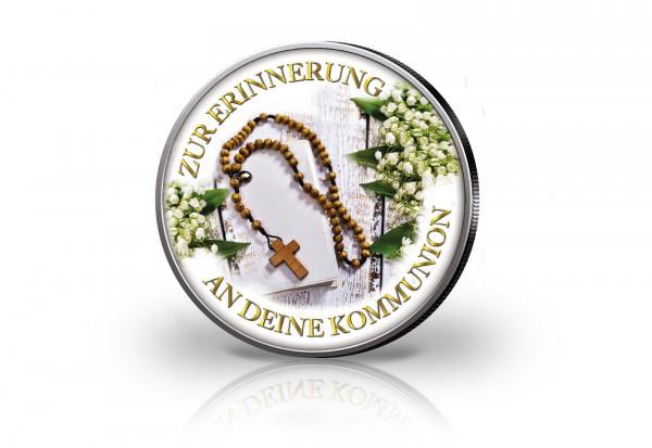 Krügerrand 1 oz Silber Südafrika mit Farbmotiv Zur Erinnerung an deine Kommunion