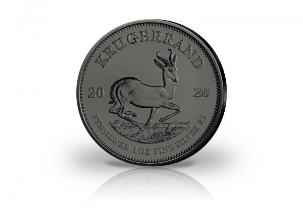 Krügerrand 1 oz Silber 2020 Südafrika veredelt mit Ruthenium