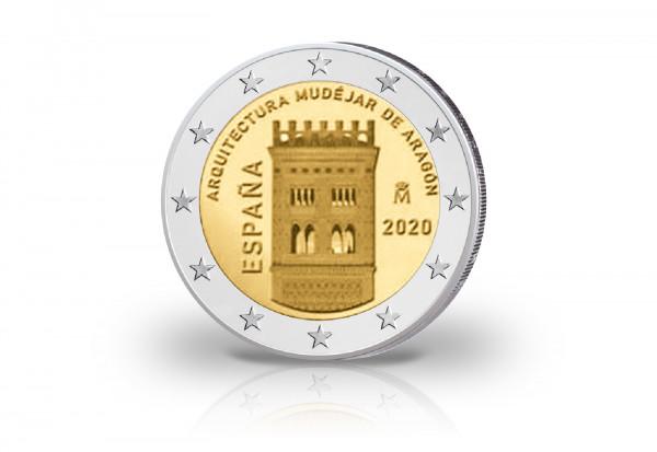 2 Euro 2020 Spanien Mudéjar Architektur in Aragón