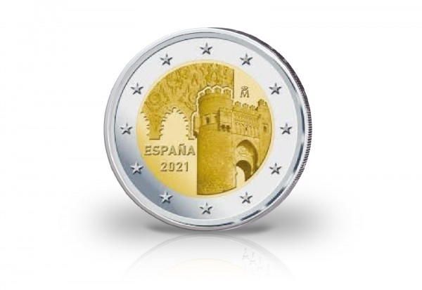 2 Euro 2021 Spanien Altstadt von Toledo