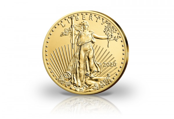 American Eagle 1/10 - 1 oz Gold 2020 USA im Etui PP im 4er Set