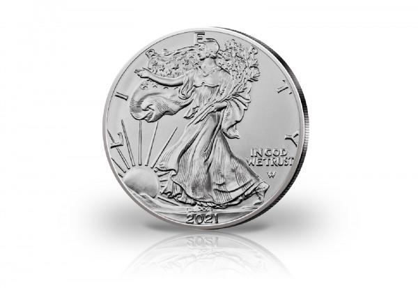 American Eagle 1 oz Silber 2021 USA Neues Motiv