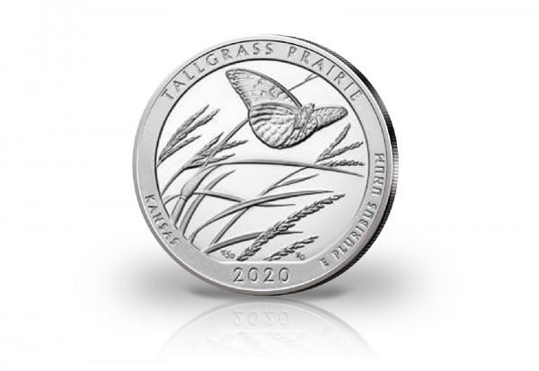 America the Beautiful Serie 5 oz Silber 2020 USA Kansas Tallgrass Prairie National Preserve