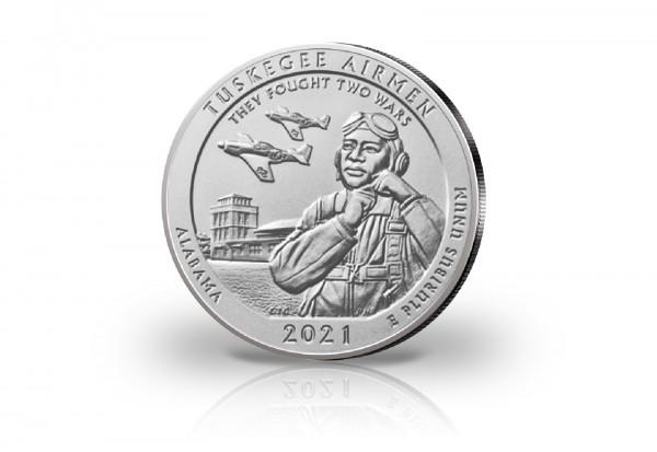 America the Beautiful Serie 5 oz Silber 2021 USA Tuskegee Airmen