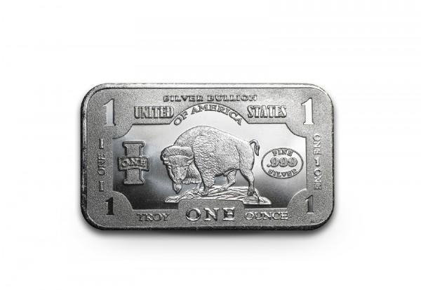 Silberbarren 1 oz Bison USA