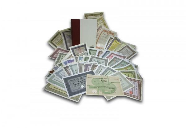 Historisches Wertpapier-Lot 10 deutsche Papiere