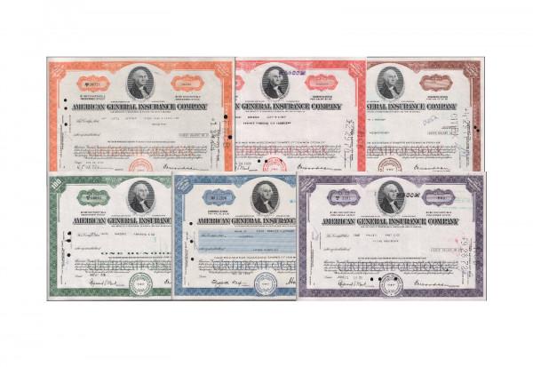 USA Aktien Lot 3 General Insurance Company George Washington