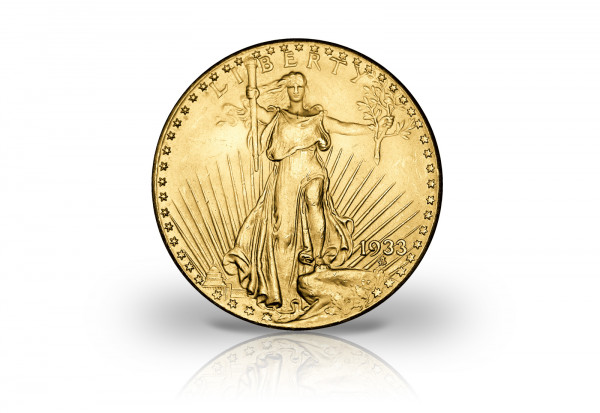Goldtaler Double Eagle 1933 1/10 oz Replik