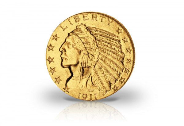 5 Dollars Goldmünze 1911 USA Indian Head