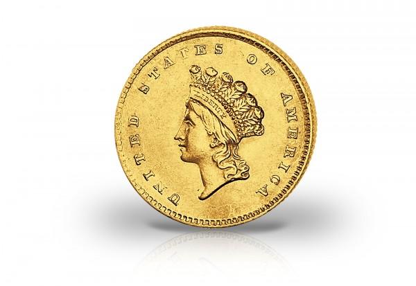 1 Dollar Goldmünze 1849-1854 USA Liberty Head