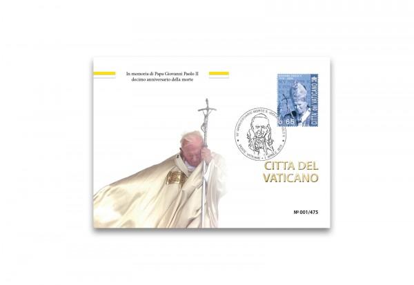Kuvert für Numisbrief Vatikan zu Ehren 10. Todestag Johannes Paul II.