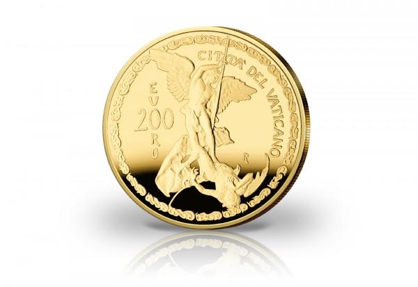 200 Euro Goldmünze 2019 Vatikan Erzengel Michael PP im Etui
