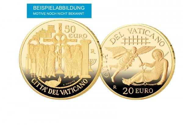 50 Euro Gold 2020 Vatikan Heiliger Paulus und 20 Euro Gold 2020 Vatikan Mission