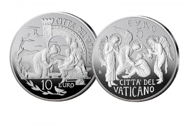 10 Euro 2019 Vatikan 52. Weltfriedenstag und 5 Euro 2019 Vatikan 150 Jahre Circolo San Pietro