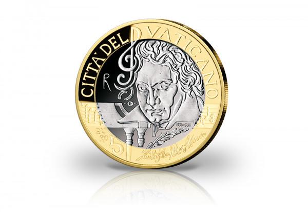 5 Euro 2020 Vatikan 250. Geburtstag von Ludwig van Beethoven PP im Etui