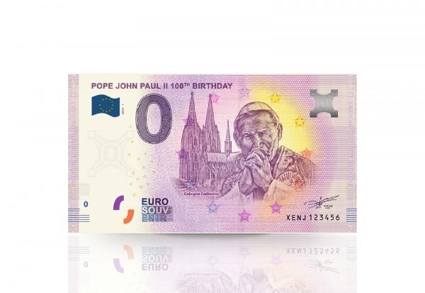 0 Euro Banknote 100. Geburtstag Papst Johannes Paul II.