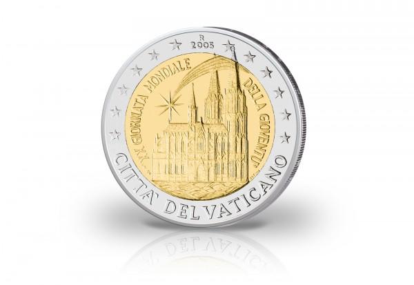 2 Euro 2005 Vatikan Weltjugendtag st im Blister