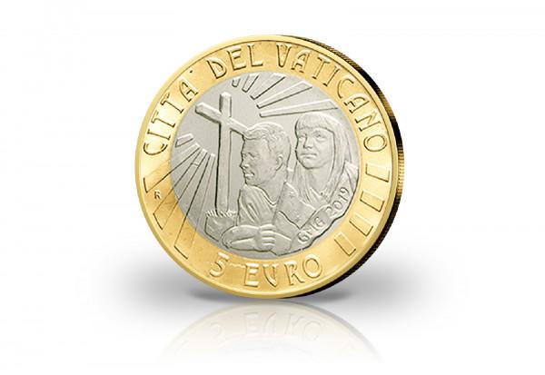 5 Euro 2019 Vatikan 34. Weltjugendtag in Panama PP im Etui