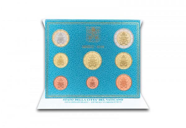Kursmünzensatz 2019 Vatikan st im Blister