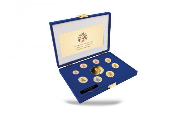Kursmünzensatz 2020 Vatikan st inkl. Goldausgabe 1/10 oz Johannes Paul II. im Etui