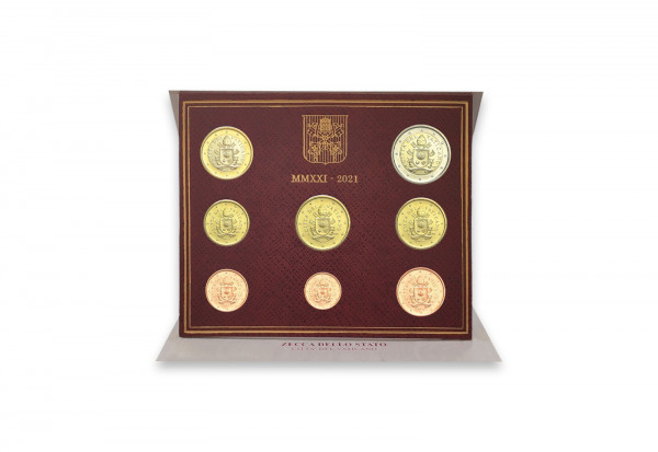 Kursmünzensatz 2021 Vatikan st im Blister