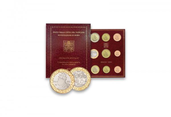 Kursmünzensatz 2021 Vatikan st inkl. 5 Euro Münze