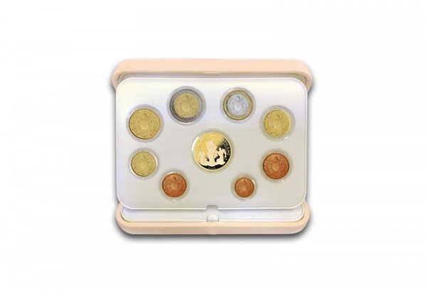Kursmünzensatz 2017 Vatikan PP inkl. 50 Euro Goldmünze im Etui