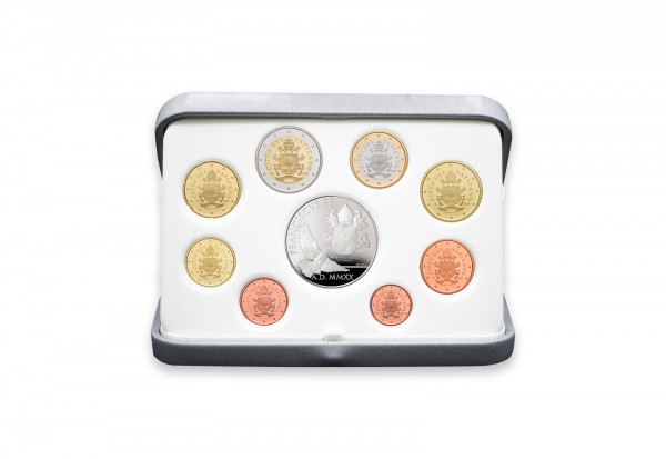 Kursmünzensatz 2020 Vatikan PP inkl. 20 Euro Silbergedenkmünze im Etui