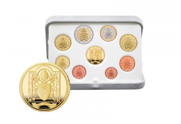 Kursmünzensatz 2020 Vatikan PP inkl. 50 Euro Goldgedenkmünze im Etui