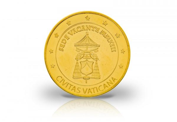 1 Euro 2013 Vatikan Sede Vacante mit Goldauflage