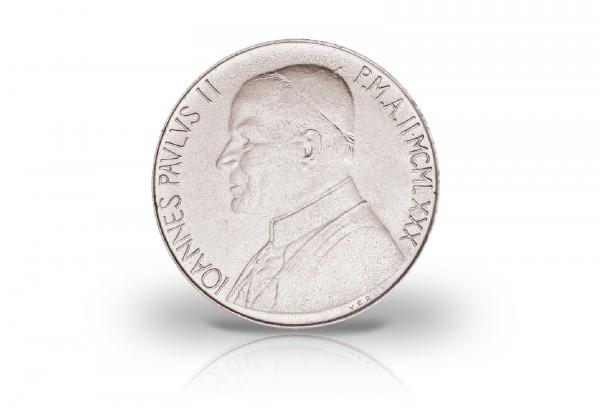 50 Lire 1980 Vatikan Papst Paul II. Gerechtigkeit